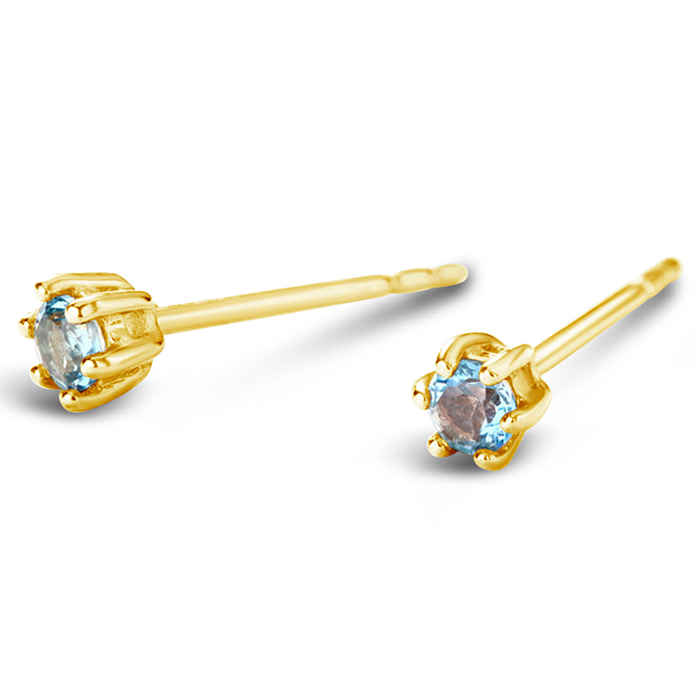 """Sunny Day"" Blue & White Topaz Earrings 