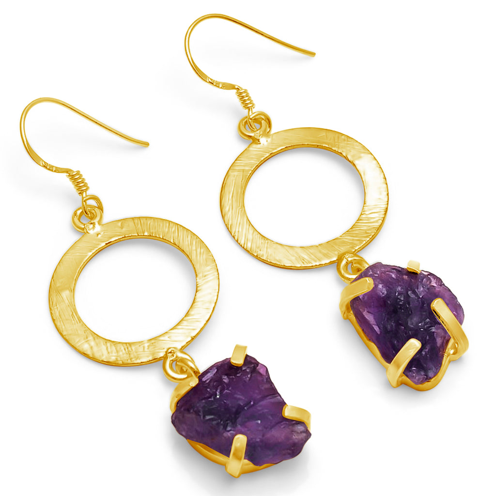 """Galaxy"" Amethyst Earrings"