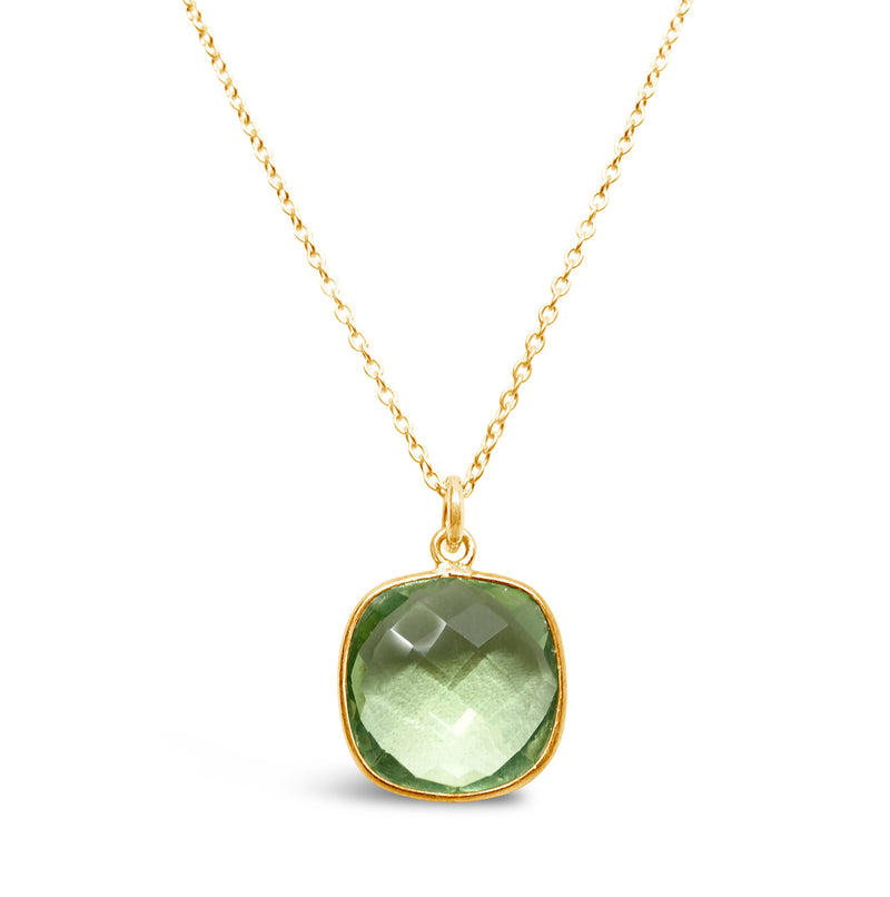 """Goddess"" Green Amethyst Bib Necklace"