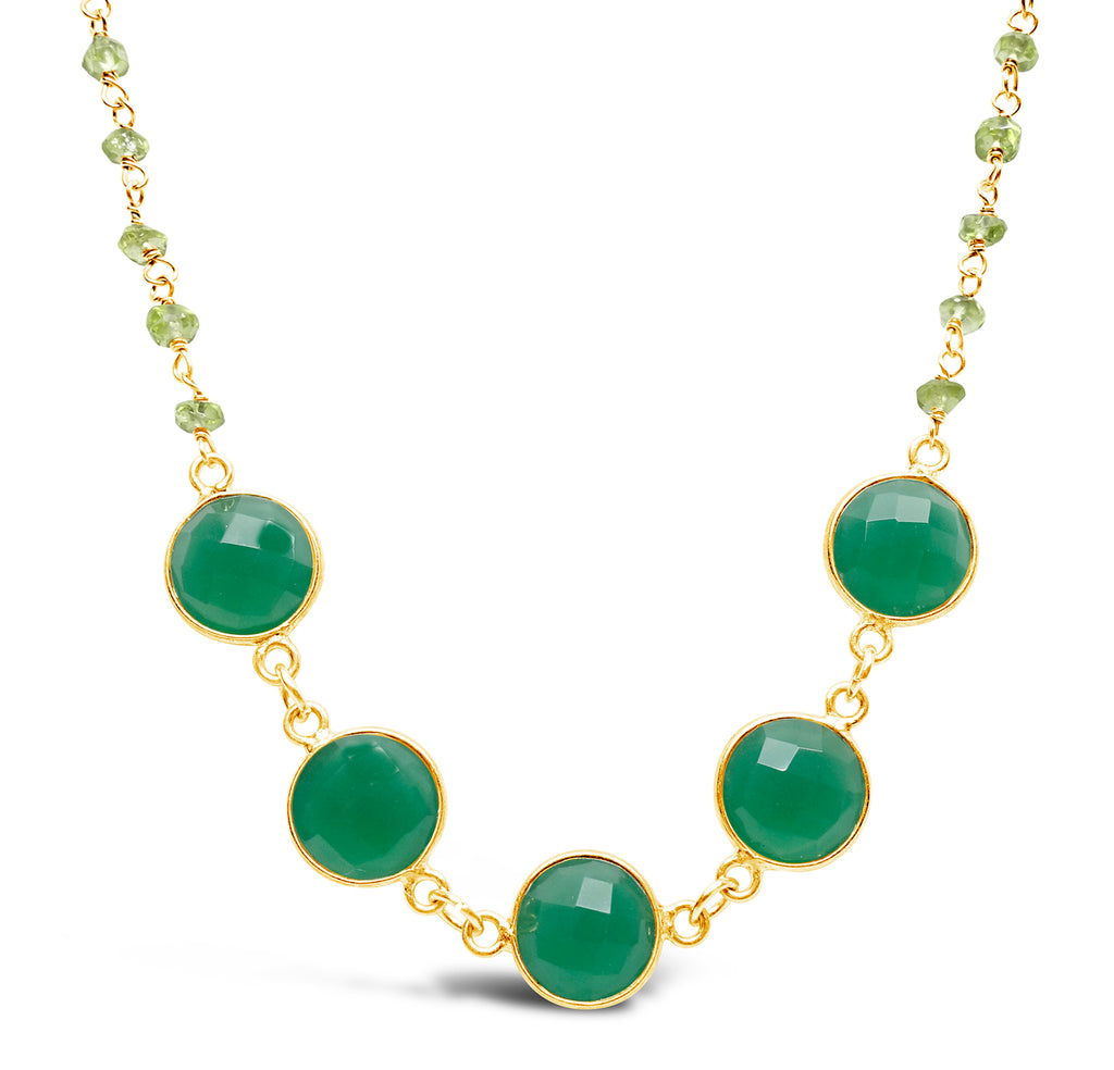 """Forest"" Green Onyx and Peridot Necklace"