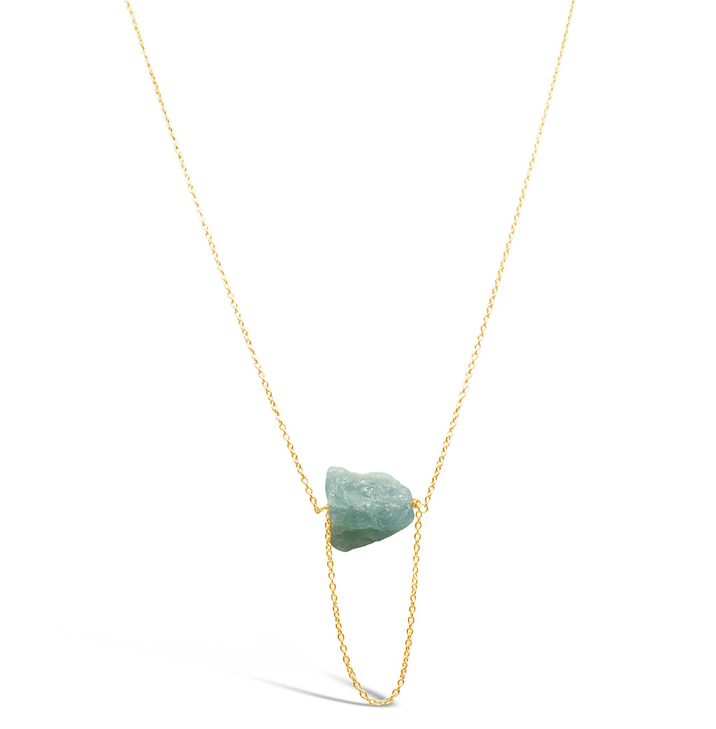 """Thaw"" Aquamarine Necklace"