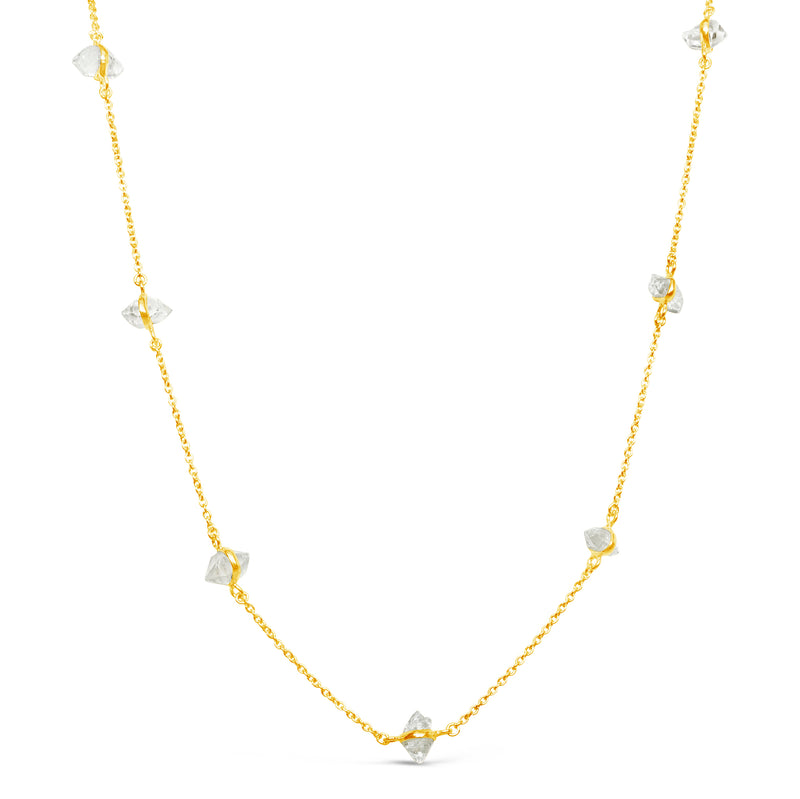 """Bling"" Herkimer Diamond Chain Necklace"
