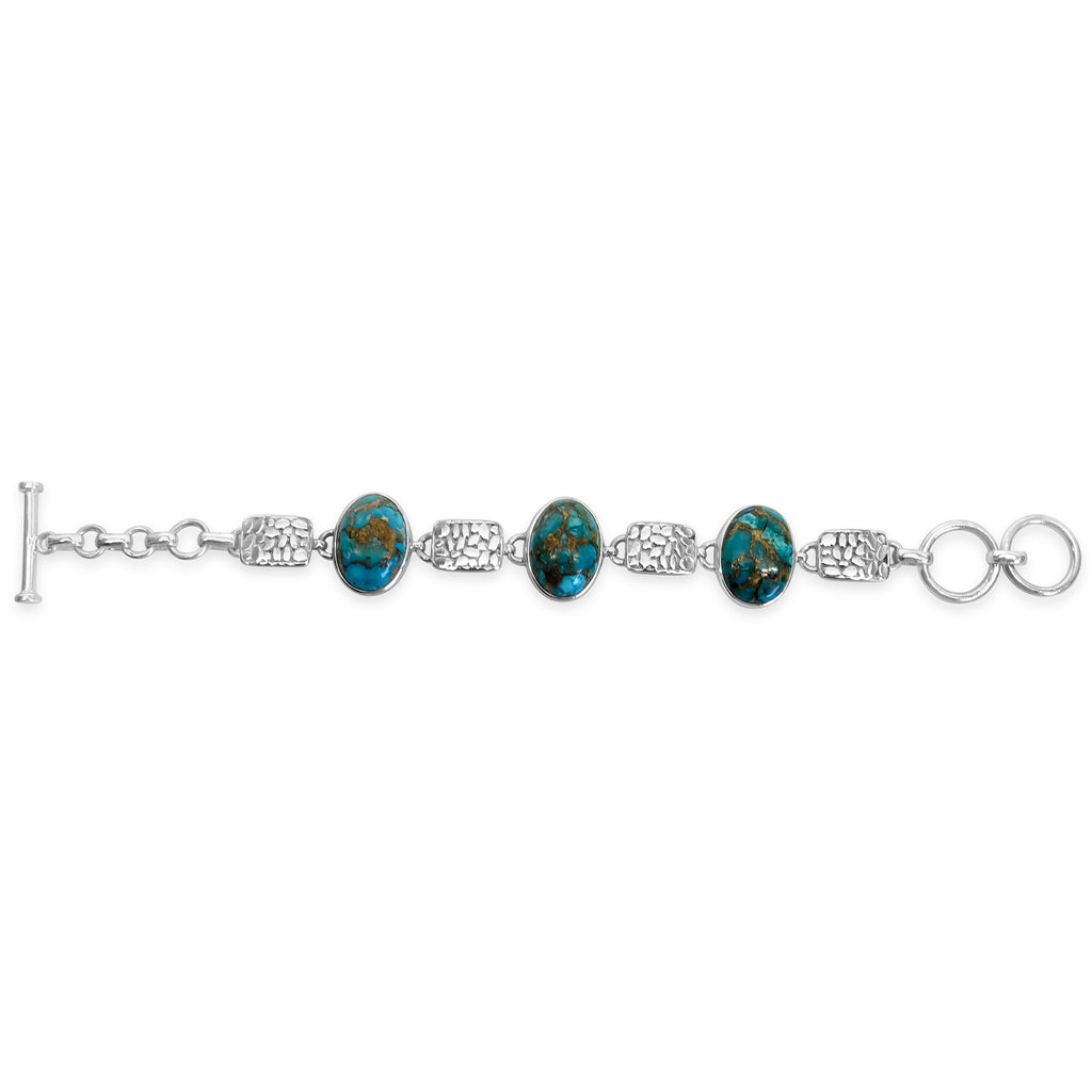 """Great Lakes"" Turquoise & Silver Bracelet"