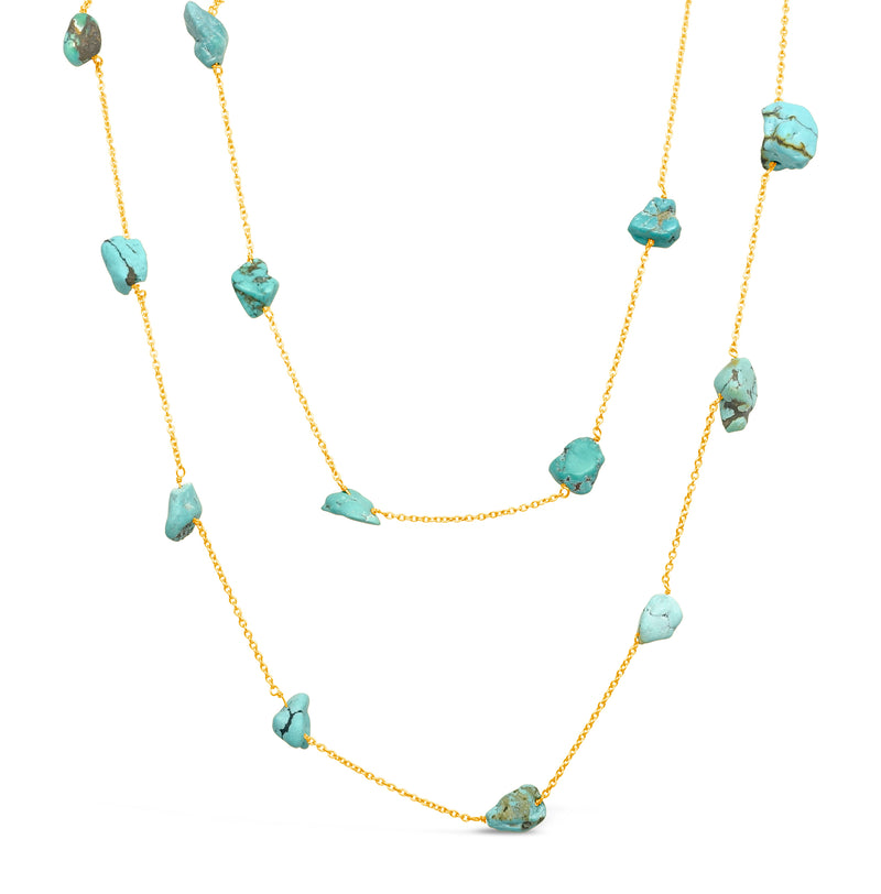 """Rain and Ice"" Aqua Chalcedony and Crystal Pendants Necklace"