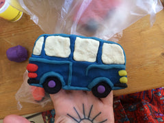 clay bus for kids bedding