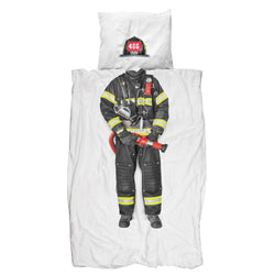 SNURK USA - FIREFIGHTER - KIDS DUVET COVER SET