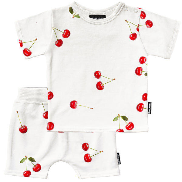 Cherries Baby T-Shirt & Shorts Set
