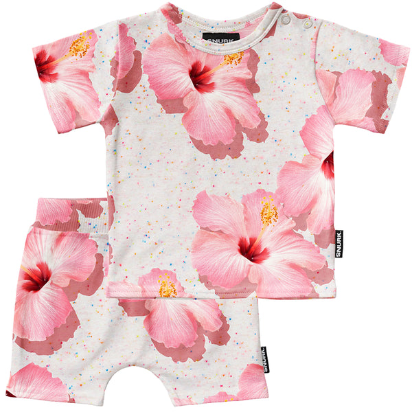 Pink Hawaii Baby T-Shirt & Short Set