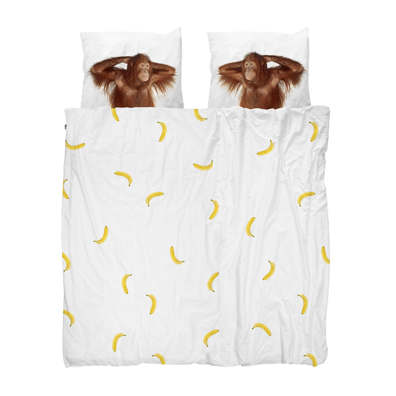 SNURK USA - Banana Monkey - Kids Duvet Cover Set