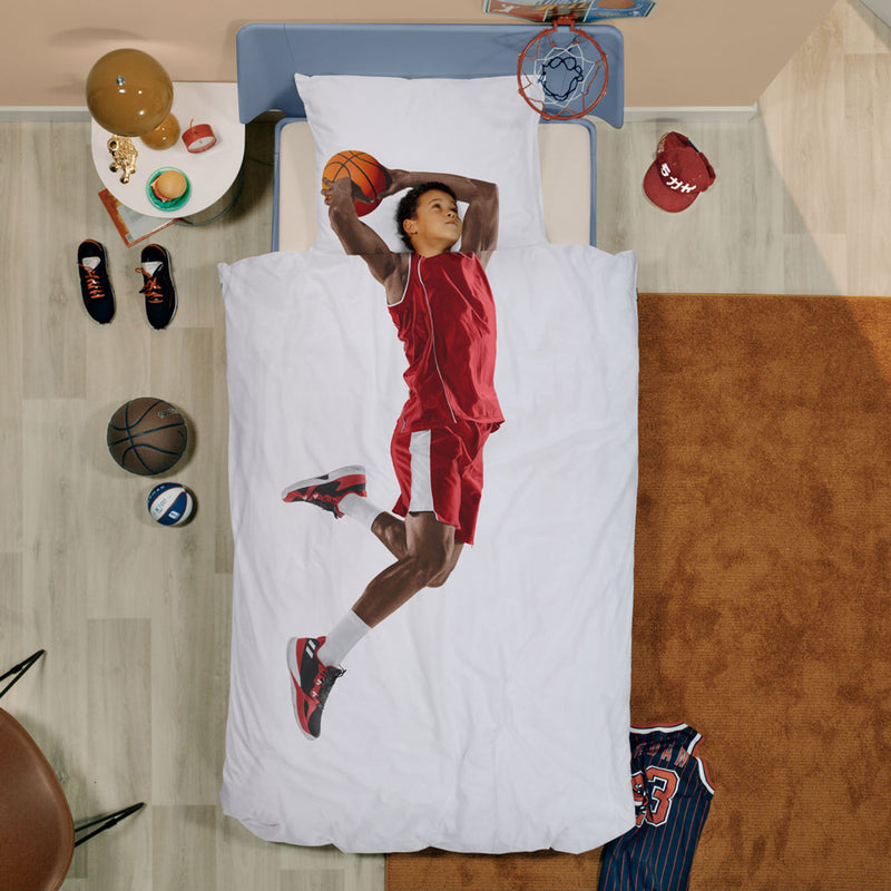 Basketball player duvet cover set