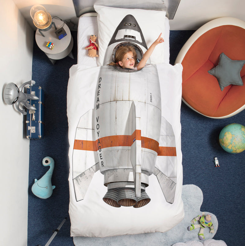 SNURK USA - ROCKET SHIP - KIDS DUVET COVER SET