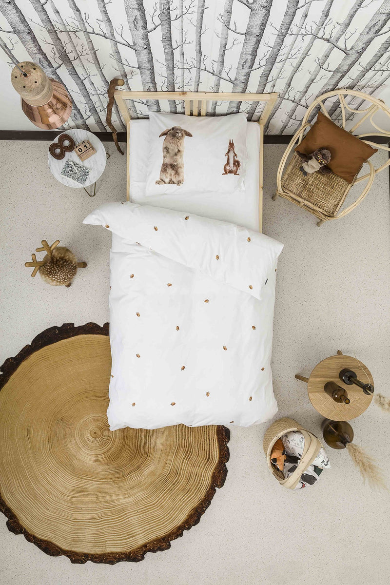 SNURK USA - FURRY FRIENDS - KIDS DUVET COVER SET