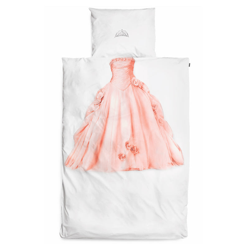 SNURK USA - PINK PRINCESS - KIDS DUVET COVER SET