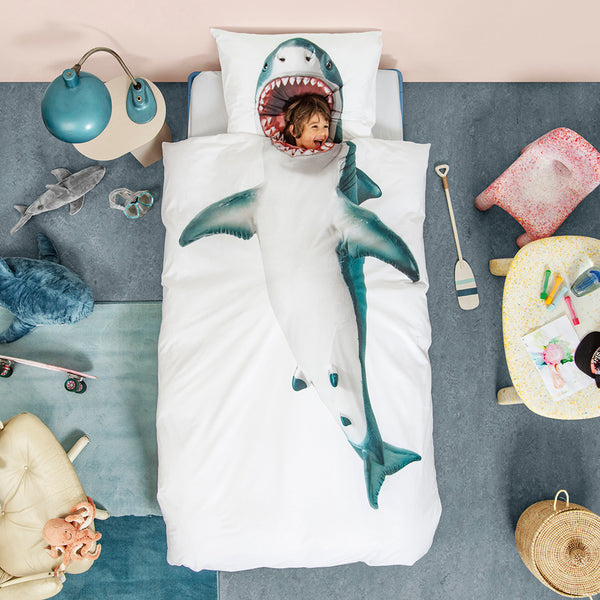 Shark bedding for kids by SNURK Living
