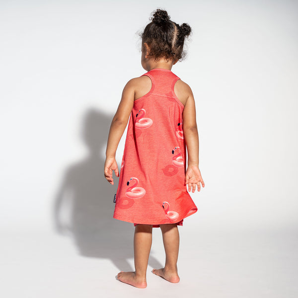 Floating Flamingo Tank Dress
