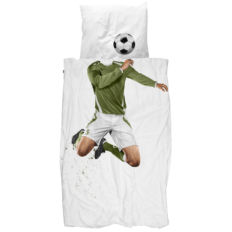 SNURK USA - SOCCER CHAMP - KIDS DUVET COVER SET - GREEN