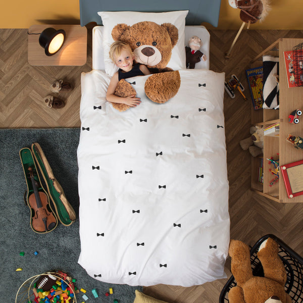 snurk usa teddy bear kids duvet cover set snurk living. Black Bedroom Furniture Sets. Home Design Ideas