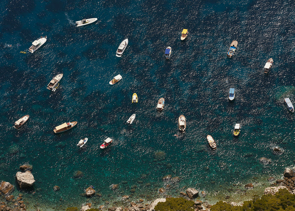Boats, Capri, Arial view of boats, Josh Welch Photography