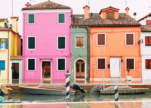Travels 0238, Houses Pink and Orange, Josh Welch