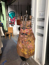 Load image into Gallery viewer, Brown Street Art Leather Apron ( one of a kind)