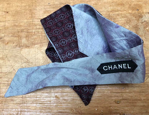 Choker recycled made of Chanel silk tie