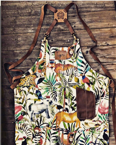 Tiki apron jungle bar blade pocket