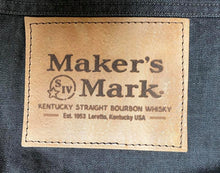 Load image into Gallery viewer, Denim Apron with 2 logo's and leather pocket (brown/black)