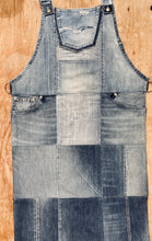 Load image into Gallery viewer, Unique Piece Denim Apron with recycled Diesel jeans