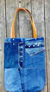 Tote Bag in reused denim