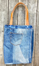 Load image into Gallery viewer, Tote Bag in reused denim