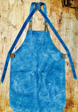 Load image into Gallery viewer, Leather Apron in Blue