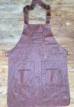 Load image into Gallery viewer, Men leather apron various pockets