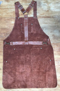 Men leather apron various pockets