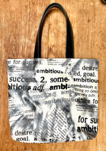 Load image into Gallery viewer, AOP Tote Bag black and white