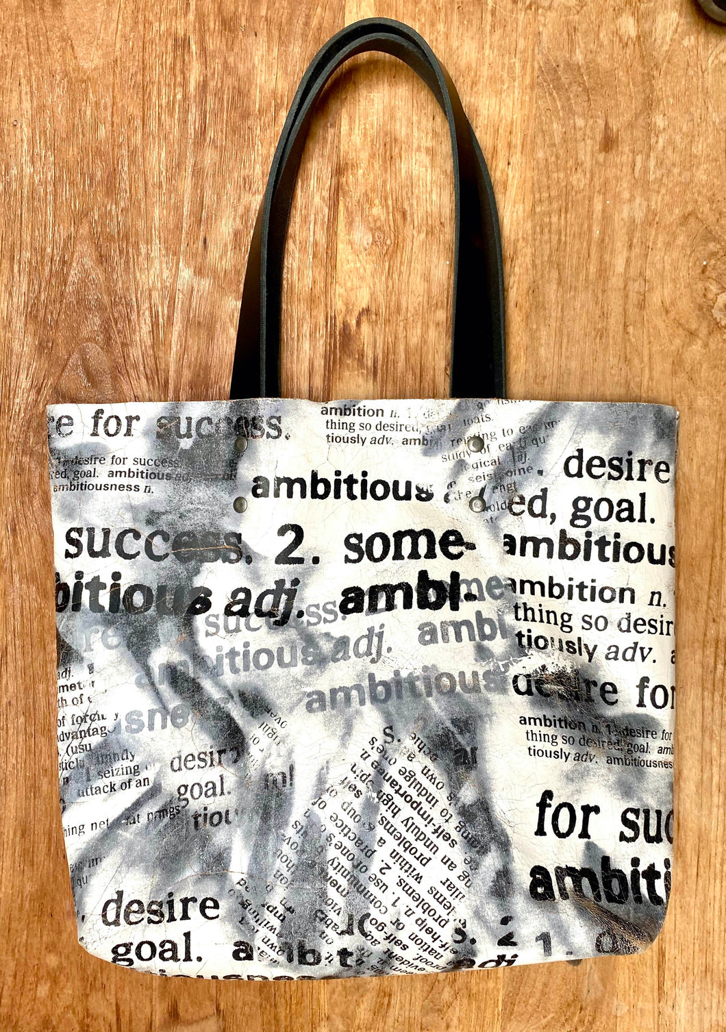 AOP Tote Bag black and white