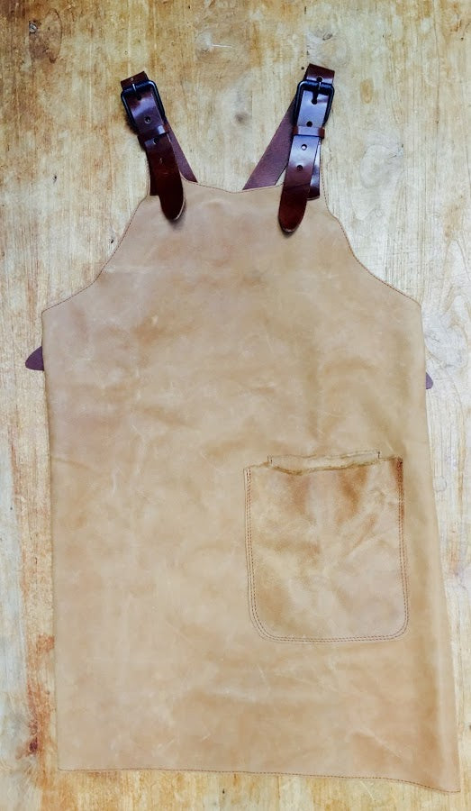 Licht Brown Butcher Leather Apron