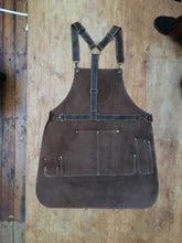 Load image into Gallery viewer, Split Leather Apron withe logo badge