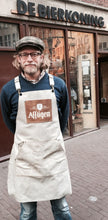 Load image into Gallery viewer, Leather Apron beige with logo variation