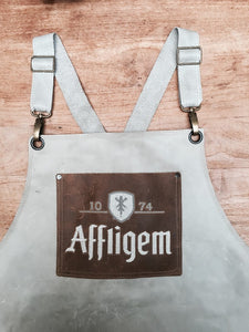 Leather Apron beige with logo variation