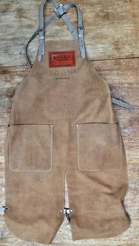Long Apron Double splitleg apron with logo batch