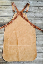 Load image into Gallery viewer, Ladies Apron in Light Brown split leather