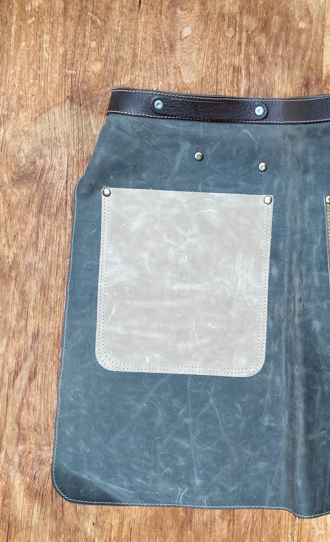 Half apron with belt (recycled)