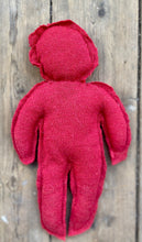 Load image into Gallery viewer, Red circulair doll made from a recycled pullover 100% wool