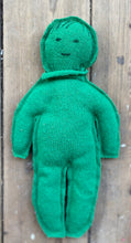 "Load image into Gallery viewer, ""The Introverted One"" made from a green recycled pullover 100% wool"