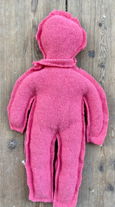 Pink Circulair friend made from a recycled pullover 100% cashmere