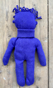 Yves Klein Blue Circulair doll made from a recycled pullover 100% cotton