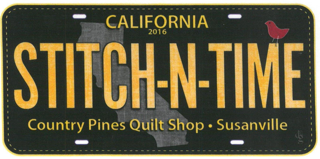 2016 Row by Row License Plate