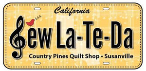 2018 Row by Row License Plate