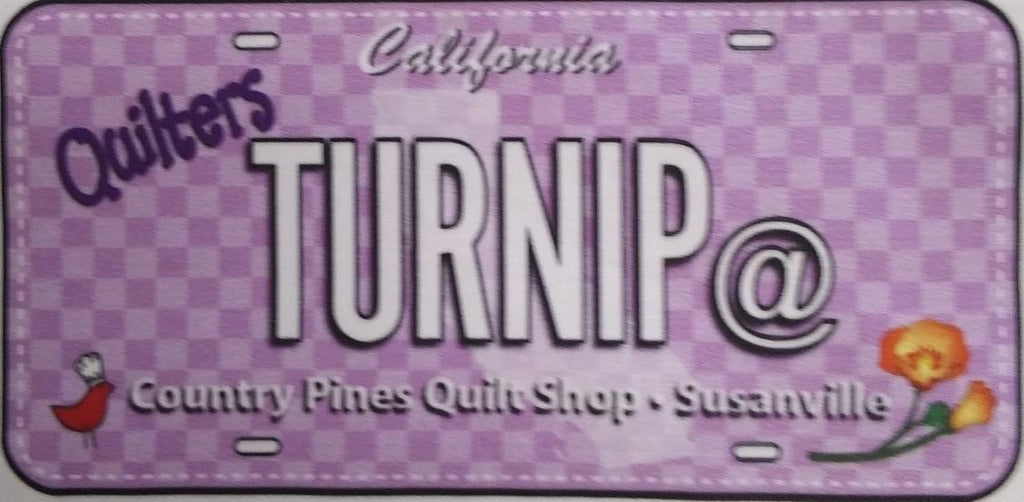 2019 Row by Row License Plate - Turnip