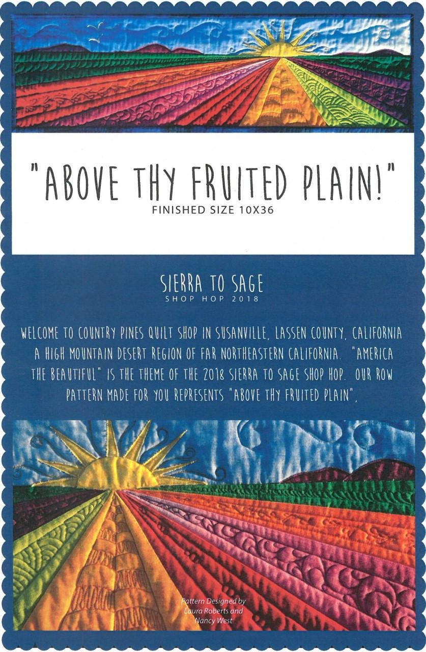 "Above Thy Fruited Plain! Quilt Kit 10"" x 36"""